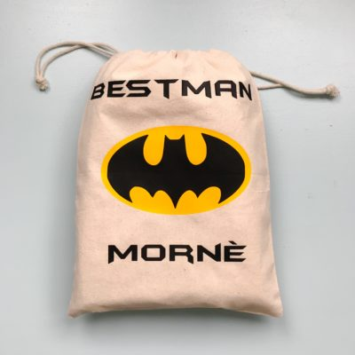 Best Man Batman Drawstring Bag