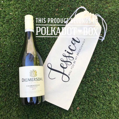 Wine Bottle Drawstring Bag