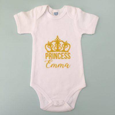 Custom Glitter Crown Onesie