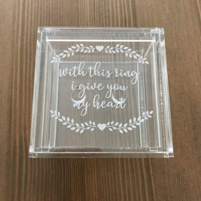 Give you my Heart Ring Box