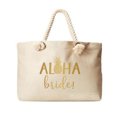 Aloha Bride Beach Bag