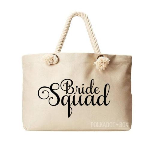 Bride Squad Beach Bag