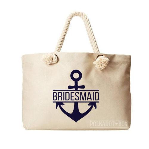 Bridesmaid Anchor Beach Bag