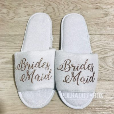 Glitter Bridesmaid Slippers