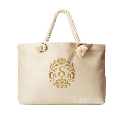 Crown Inital Beach Bag