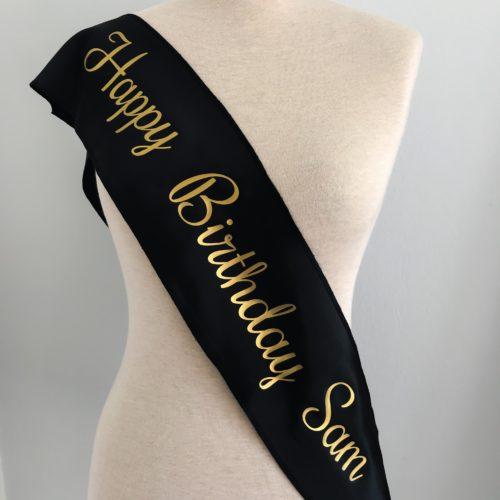 Custom Birthday Sash