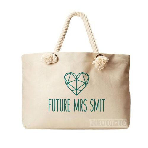 Future Mrs Heart Beach Bag