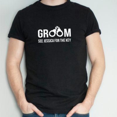 Groom Handcuffs Tshirt