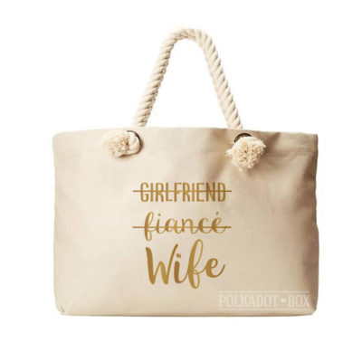 Girlfriend Fiance Wife Beach Bag