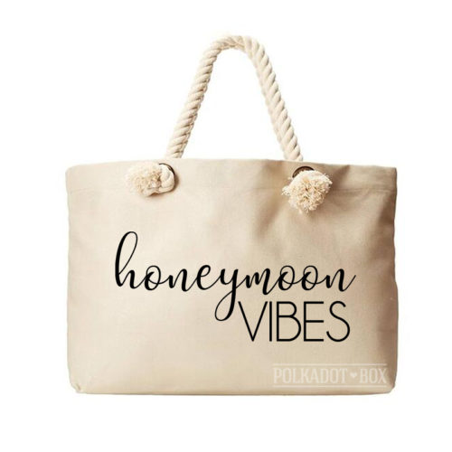 Honeymoon Vibes Beach Bag