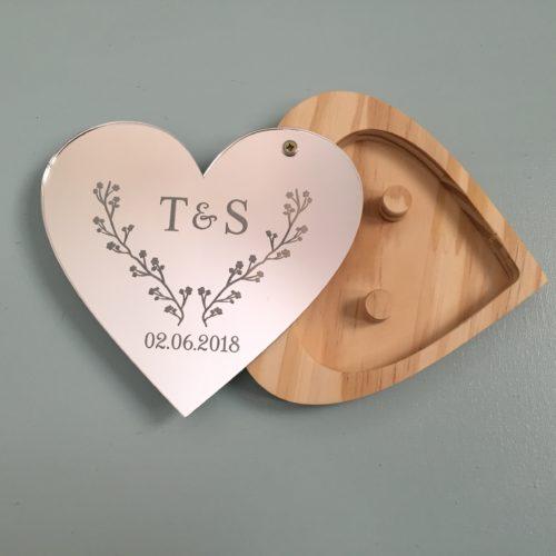 Custom Wood & Acrylic Ring holder