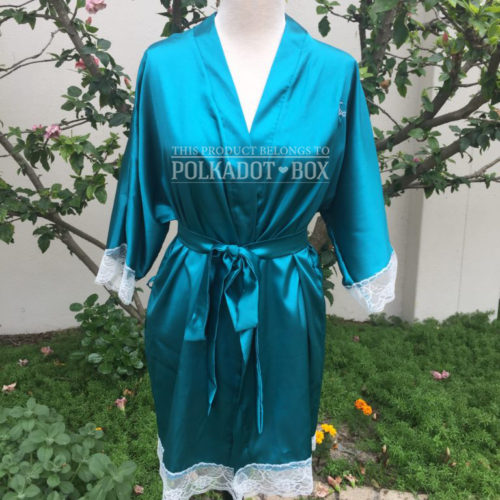 Teal Bridal Robe