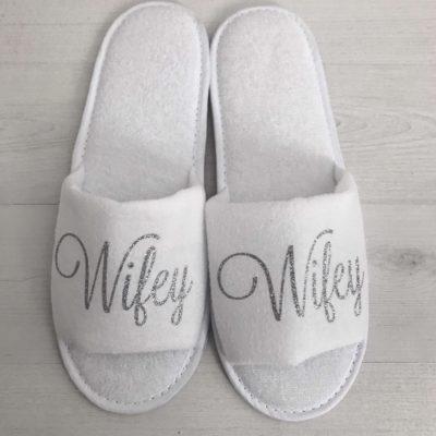 Glitter Wifey Slippers