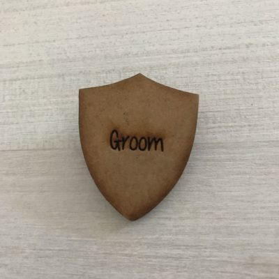 Engraved Groom Badge