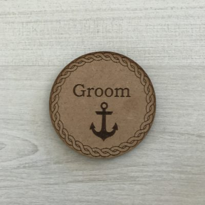 Nautical Groom Badge