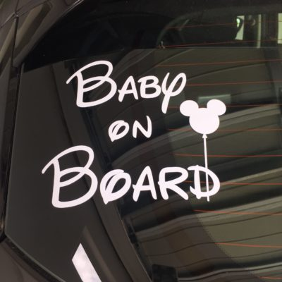 Disney Baby on Board Car Vinyl