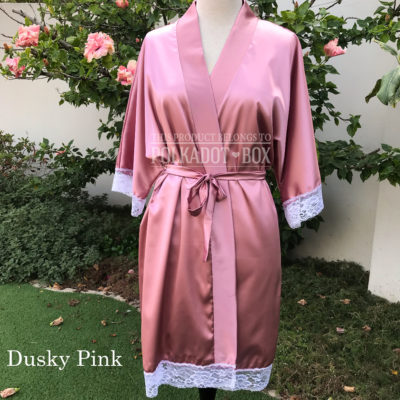 Dusty Pink Bridal Robe