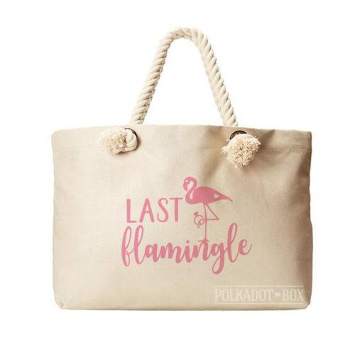 Last Flamingle Beach Bag