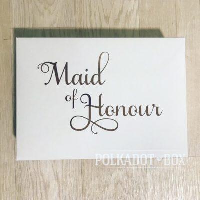 Maid of Honour Cardboard Gift box