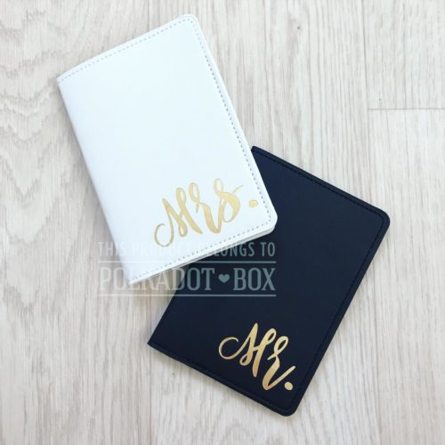 Mr & Mrs Passport cover set.