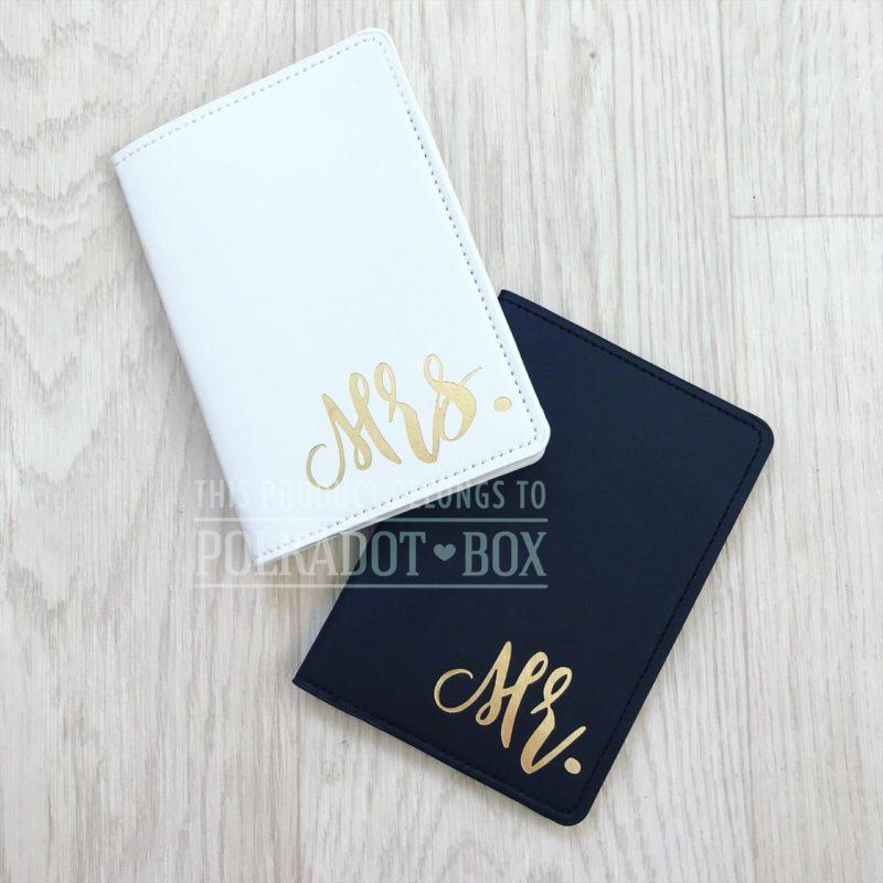 Mr & Mrs Passport cover set.
