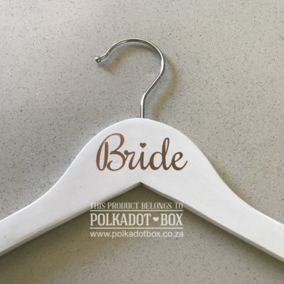 polkadotbox wedding hanger