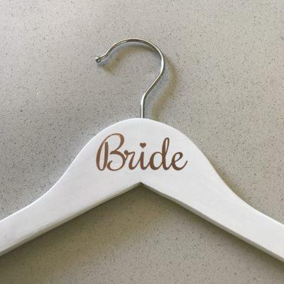 Rose Gold Vinyl Bride Hanger
