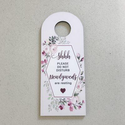 Floral Newlyweds Door hanger