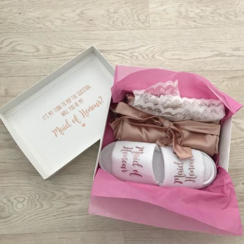 Viscose Robe & Slippers Box Set