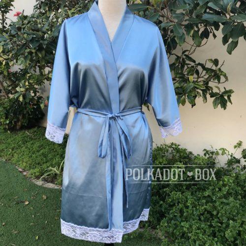 Periwinkle Bridal Robe