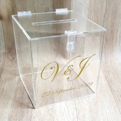 Clear Envelope Gift Box with hinge
