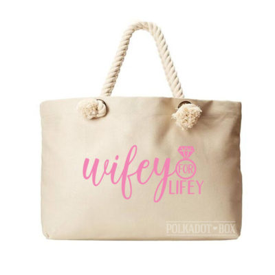Wifey for Lifey Beach Bag