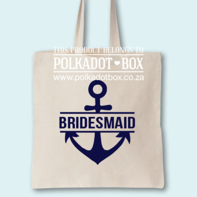 Bridesmaid Anchor Tote Bag