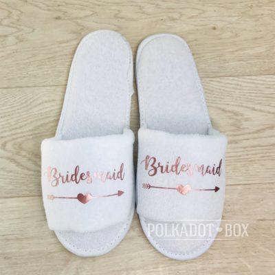 Bridesmaid Heart Arrow Slippers