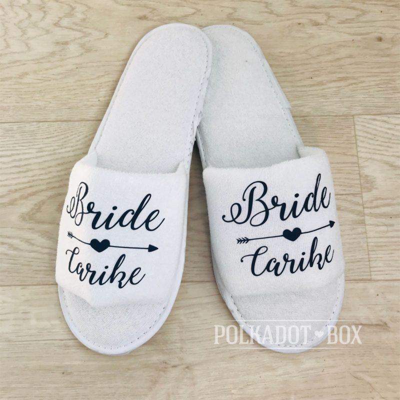 4474c55a21ed2 Custom Bride Slippers