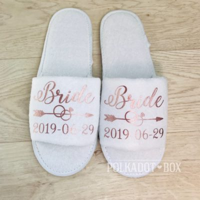 Custom Bride Slippers