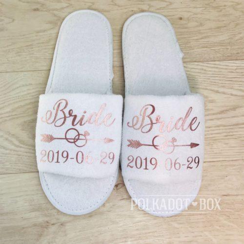 Custom Bride Slippers