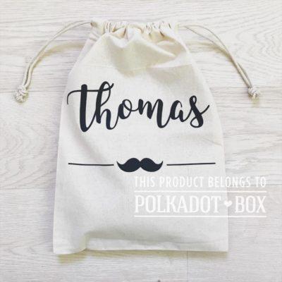 custom name drawstring bag