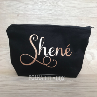 custom name make up bag