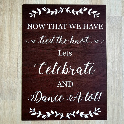 Dancing Wedding Signage