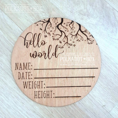 Engraved Baby Announcement Disc
