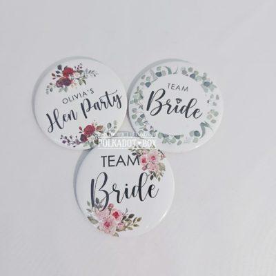 Floral Button Badges