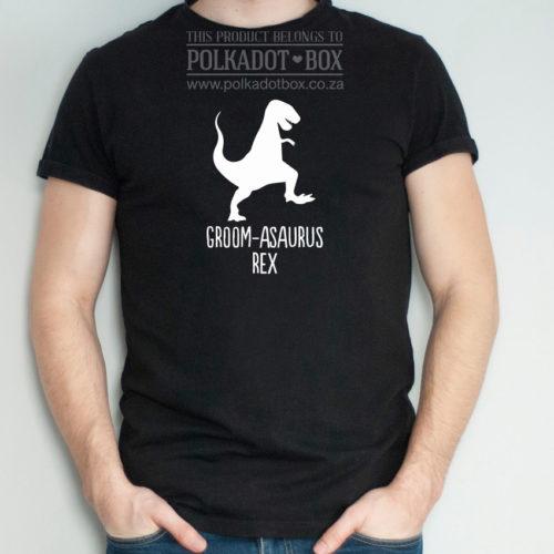t-rex groom tshirt