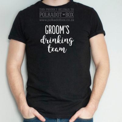 groom's drinking team tshirt