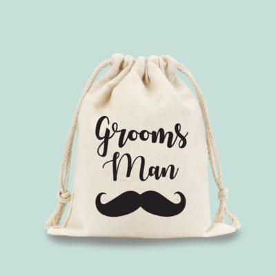 groomsman drawstring bag