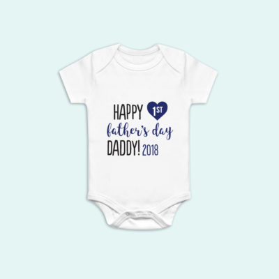 Happy 1st Fathers day Onesie