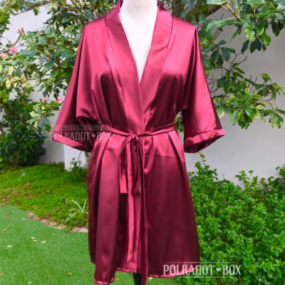 Deep Red Bridal Robe