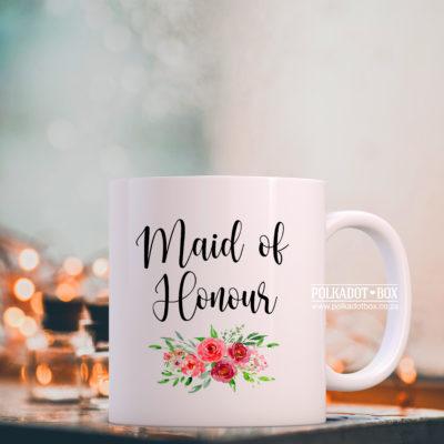 Floral Maid of Honour Mug