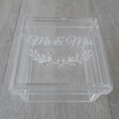 Mr & Mrs Perspex Ring Holder