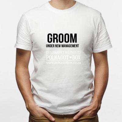 new management groom t-shirt